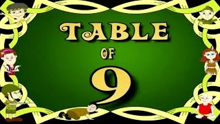 Learn Multiplication Table Of Nine - 9 x 1 = 9 | 9 Times Tables | Fun & Learn Video for Kids