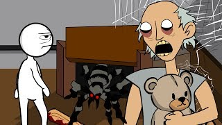 GRANNY THE HORROR GAME ANIMATION #6 : The Scary Granny and Pet Spider