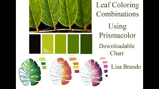 How To Color Leaves For Coloring Books Tutorial Leaf Combinations Colored Pencils Lisa Brando