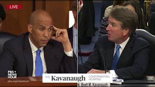 Sen. Booker asks Brett Kavanaugh about his opinions on race, racial profiling and voting rights