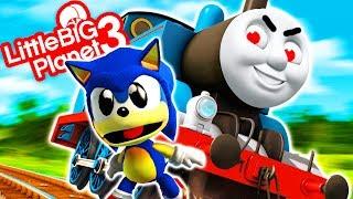 Sonic VS Thomas The Tank Engine - Thomas.exe - LittleBigPlanet 3 PS4 Gameplay