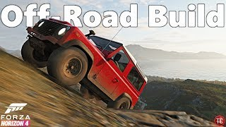 Forza Horizon 4: Land Rover Defender 90   Lifted, Off-Road Build!