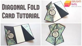 Diagonal Fold Card Tutorial By Srushti Patil