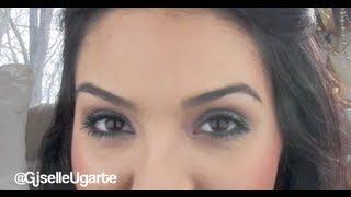 Winter Eye Makeup Tutorial With Turquoise Brown MAC Metallic Pigments