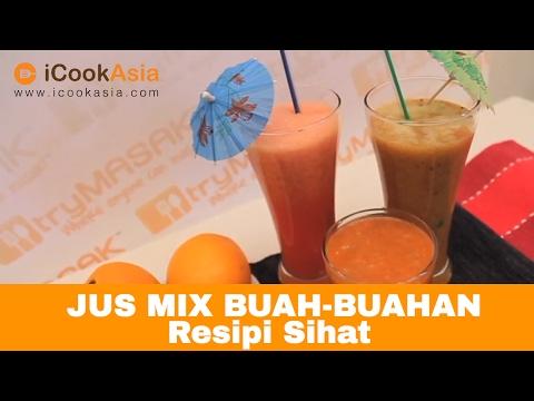 Video Jus Buah-Buahan Campuran | Resipi Sihat  | Nutrition Society of Malaysia | Try Masak | iCookAsia