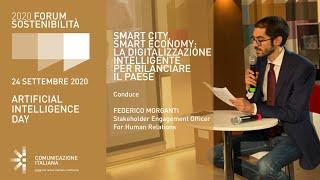 Youtube: Digital Talk | SMART CITY, SMART ECONOMY: LA DIGITALIZZAZIONE INTELLIGENTE PER RILANCIARE IL PAESE | Forum Sostenibilità 2020