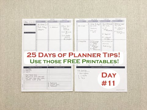 FREE PLANNER PRINTABLES | 25 Days of PLANNER TIPS!