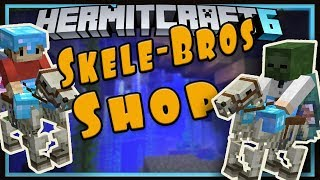 Hermitcraft Season 6:  The Skele-Bro's Shop & Trident MADNESS!   (Minecraft 1.13.1 survival  Ep.21
