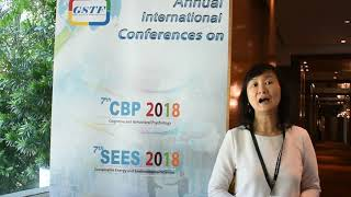 Wai Ying Wong at SEES Conference 2018 by GSTF Singapore