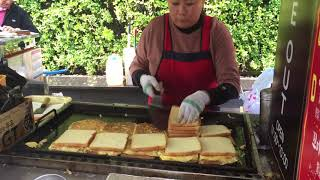 Recommended Breakfast @ Myeongdong, Seoul Korea (Toast Sandwich with Vegetable, Egg, Ham and Cheese