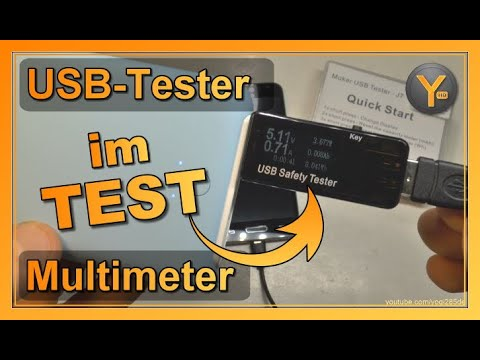 Review: USB-Tester (Multimeter) zum Messen von Spannung, Stromstärke usw. an USB-Anschlüssen!