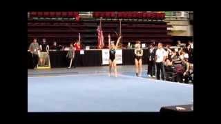 Allison Picchini college gymnastics video 2014