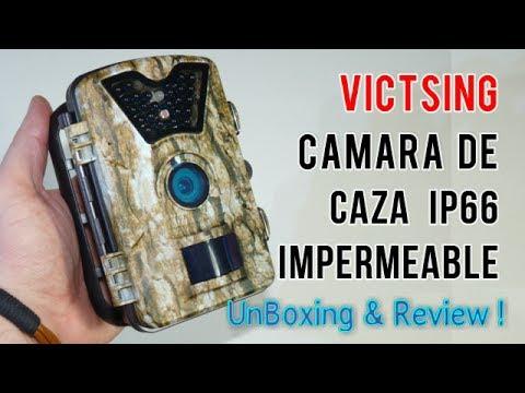 VicTsing Cámara de Caza Vigilancia Impermeable  Camuflaje IP66 8MP 720P HD| UnBoxing  Review Español