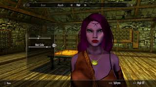 Skyrim SE (mods) - Sylvyra - Hair and Skin Colors