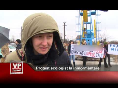 Protest ecologist la înmormântare