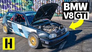 RWD Converted Volkswagen GTI (With a BMW V8!) is the Ripper We Didn't Know We Needed
