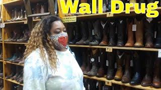 Shopping For Cowgirl Boots At Wall Drug SD Tourist Attraction!