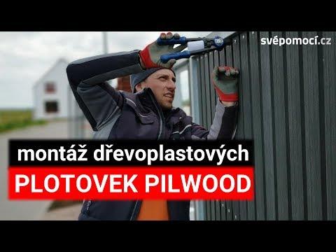 Čelní oplocení z plotovek Pilwood