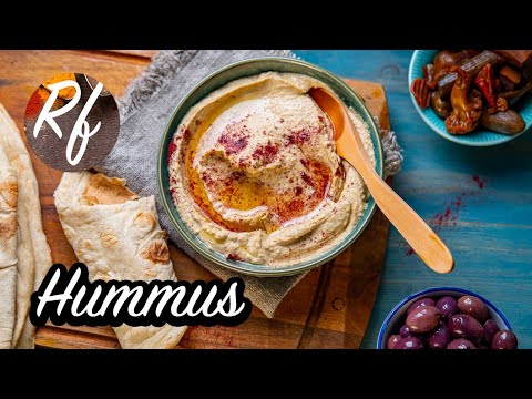 Make your own hummus with chickpeas, garlic, olive oil and lemon. You can garnish with some olive oil, spices as zumak or ground bell pepper and parsley. >