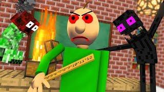 Monster School : BALDI'S BASICS BECAME VILLAIN Challenge - Minecraft Animation