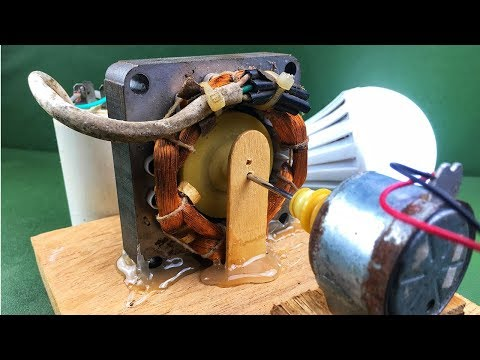 Make free energy generator with electricity dc motor at home – DIY 100% work science experiments