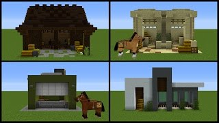 Minecraft: 8 Horse Stable Designs!