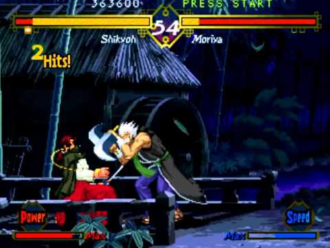 The Last Blade (Arcade/Neo Geo MVS) Playthrough as Shikyoh