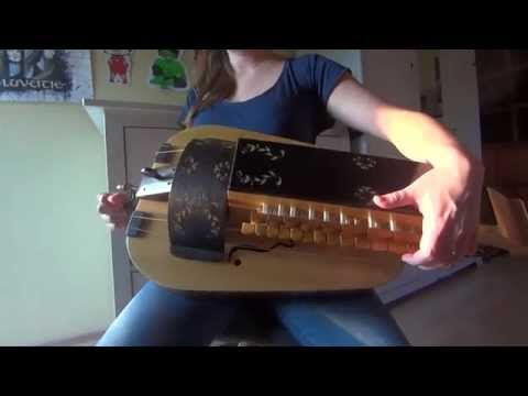 This girl plays lamb of God on a hurdy gurdy