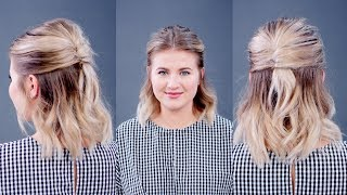 Hairstyle Of The Day: Half Up Half Down French Twist   Milabu