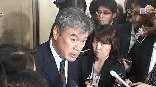 辞任を表明する財務省の福田淳一事務次官