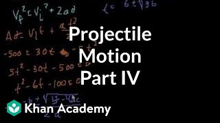 Projectile motion (part 4)