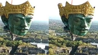 Wow! Begini Proses Pemasangan Bagian Patung GWK yang Akan Jadi Patung Tertinggi Ketiga di Dunia
