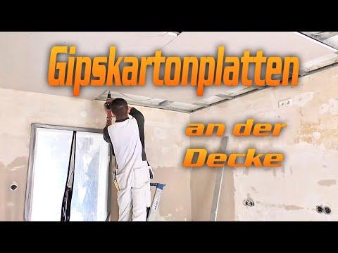 Gipskartonplatten auf Metallkonstruktion schrauben/ Decke abhängen/Trockenbau DIY~Video 12~