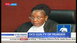 Former Ruaraka OCS Nahashon Mutua found guilty of murder 5 years later