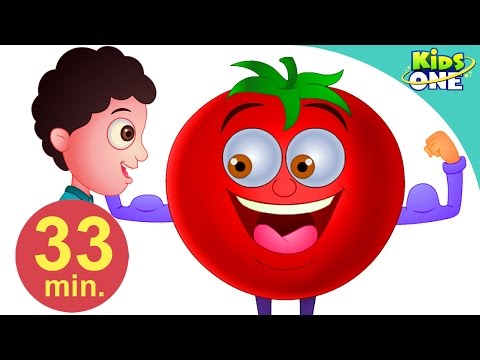 Gol Gol Ye Lal Tamatar | Hindi Children Rhymes | 33 Min Compilation