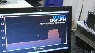Omron Electronic Components Demonstrates NEW D6FPH MEMS Mass Flow Sensor at Sensors Expo 2012