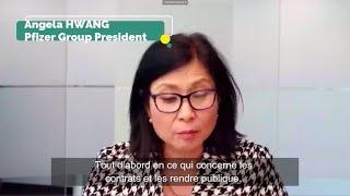 Vaccins COVID19 | mes questions à la Présidente de Pfizer 1/1