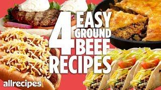 4 Easy Ground Beef Dinners | Recipe Compilations | Allrecipes.com