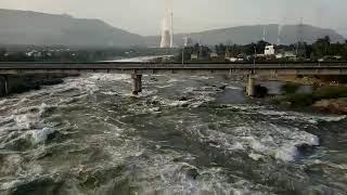 Thermal bridge at Mettur dam  aadi 2018   மேட்டூர் அணை தெர்மல் பாலம்  ஆடி 2018