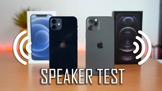 Apple iPhone 12 & Apple iPhone 12 Pro Speaker Test!