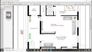 30X40 Apartment Plan [First Floor Plan]