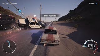 NFS Payback - Nissan Skyline 2000 GT-R Abandoned Car Location and Police Chase