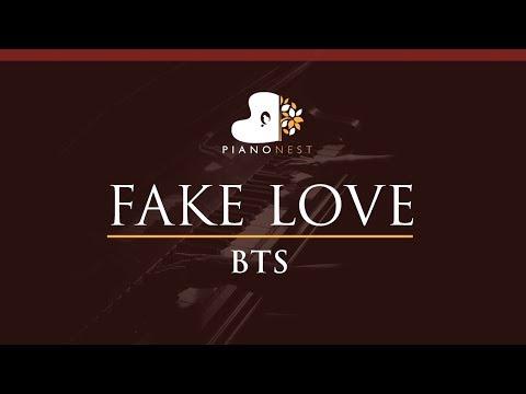 BTS - FAKE LOVE - HIGHER Key (Piano Karaoke / Sing Along) - 방탄소년단