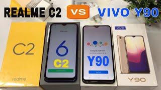 Vivo Y90 vs Realme C2 Unboxing+Compare in hindi