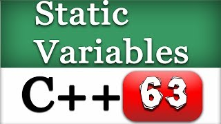C++ Static Variables and Members in Class | CPP Object Oriented Programming Video Tutorial