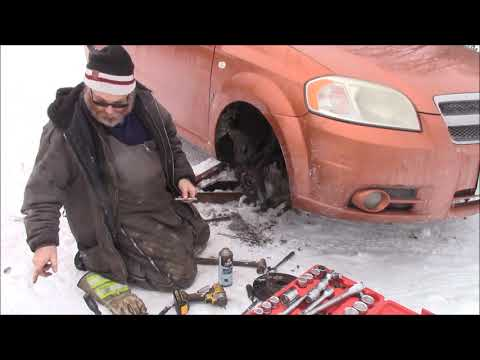 Front Wheel Bearing Change On Our 2008 Chevrolet Aveo