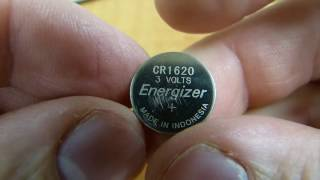 Can a 1616 battery be replaced by a 1620?