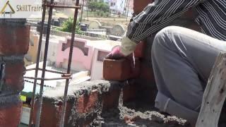 Joining brick walls and making corners (Hindi) (हिन्दी)