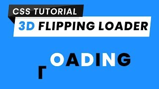 3D Flipping Loader CSS | CSS 3D | CSS Loading Animation