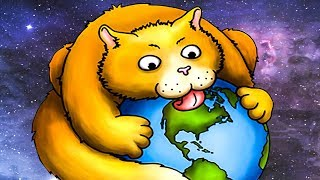 Суровый КОТИК РОБОТ съел город. ИГРА Tasty Planet Forever #1 на Игрули TV